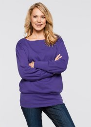 Oversize-Sweatshirt, bpc bonprix collection, schwarz