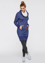 Sweatkleid, bpc bonprix collection, mitternachtsblau meliert