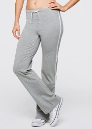 Stretch-Sporthose, bpc bonprix collection, hellgrau meliert