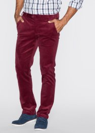 Stretchcord-Hose, Slim Fit Straight, bpc bonprix collection, bordeaux