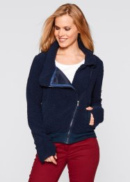Teddy-Fleece Jacke, bpc bonprix collection, schwarz