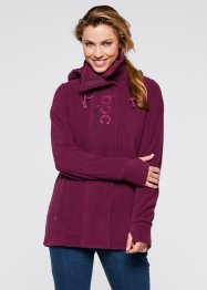 Fleece-Langjacke, bpc bonprix collection, beere