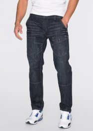 Jeans mit Teilungsnähten Regular Fit Straight, RAINBOW, anthracite denim