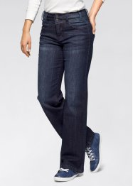 Stretch-Jeans im Wide Fit, John Baner JEANSWEAR, dunkelblau