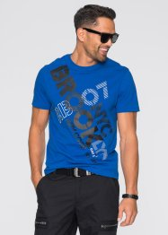 T-Shirt, Regular Fit, RAINBOW, azurblau