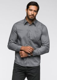Langarmhemd Regular Fit, bpc bonprix collection, rauchgrau