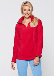 Fleece-Troyer mit langen Ärmeln, bpc bonprix collection, rot