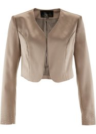 Satin-Bolerojacke, bpc selection, taupe