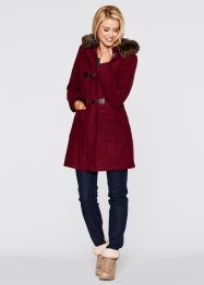 Duffle-Coat mit Kapuze, bpc bonprix collection, ahornrot