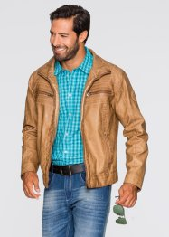 Lederimitat-Jacke Regular Fit, bpc bonprix collection, cognac