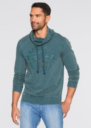 Sweatshirt Slim Fit, RAINBOW, petrol