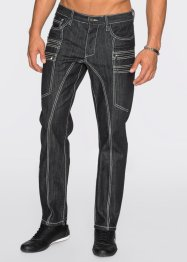 Jeans Regular Fit Straight, RAINBOW, schwarz denim