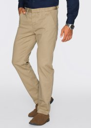 Chino-Hose Regular Fit Straight, bpc bonprix collection, beige