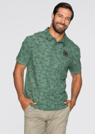 Poloshirt Regular Fit, bpc selection, hellgrün gemustert