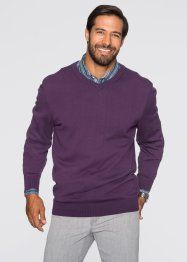 V-Pullover, Regular Fit, bpc selection, rot