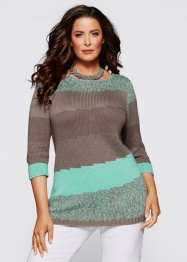 Pullover, bpc selection, blutorange/taupe