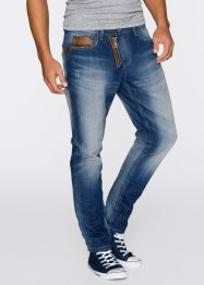 Tapered Jeans im Loose Fit, RAINBOW, blue used