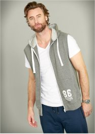 Sweatweste Regular Fit, bpc bonprix collection, grau meliert