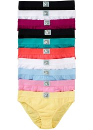 Slip (10er-Pack), bpc bonprix collection, bunt/pastell