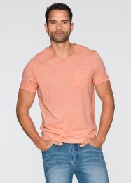 T-Shirt Slim Fit, RAINBOW, orange meliert
