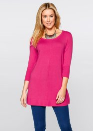Feinstrick-Oversize-Pullover, 3/4 Arm, bpc bonprix collection, schwarz