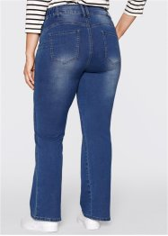 Power-Stretch-Push-Up-Jeans, Bootcut, bpc bonprix collection, blue stone used