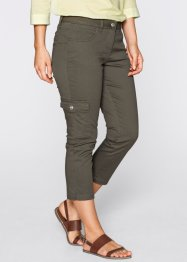 3/4-Push-up-Cargohose mit Lycra-Anteil, bpc bonprix collection, dunkeloliv