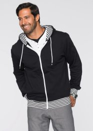 Sweatjacke Regular Fit, bpc bonprix collection, schwarz