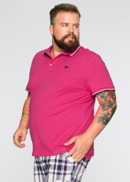 Poloshirt Regular Fit, bpc bonprix collection, dunkelpink