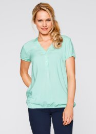 Kurzarm-Bluse, bpc bonprix collection, hellmint