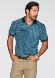 Poloshirt Regular Fit, bpc selection, petrol/dunkelblau meliert