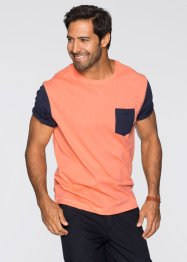 T-Shirt Regular Fit, bpc bonprix collection, lachs meliert