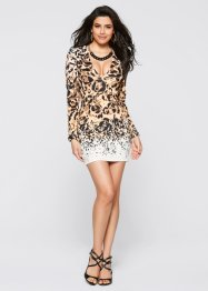 Kleid, BODYFLIRT boutique, beige multi