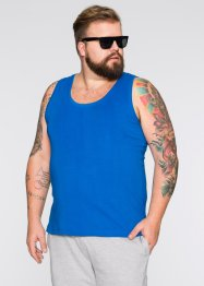 Tank-Top Slim Fit (2er-Pack), RAINBOW, azurblau+weiß