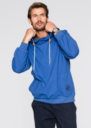 Sweatshirt m. Kapuze Regular Fit, bpc bonprix collection, blau meliert