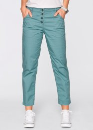 7/8-Papertouch Chino Hose, bpc bonprix collection, mineralblau