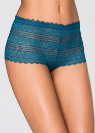 Panty (2er-Pack), bpc bonprix collection, blaupetrol/schwarz
