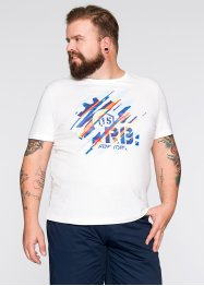 T-Shirt Slim Fit, RAINBOW, weiß