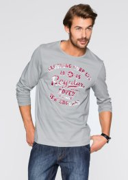 Langarmshirt Regular Fit, bpc bonprix collection, neutralgrau