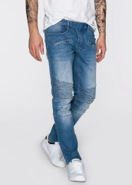 Stretch-Jeans Slim Fit Straight, RAINBOW, medium blue bleached used