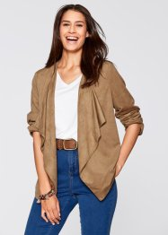 Stretch-Blazer, Wildleder-Imitat, bpc bonprix collection, camel