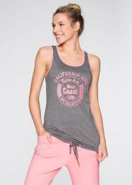 Tanktop, bpc bonprix collection, grau meliert