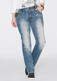 Stretch-Jeans mit Applikation, lässig, STRAIGHT, John Baner JEANSWEAR, hellblau