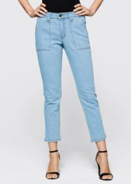 7/8 Stretchjeans, bpc selection, blue bleached
