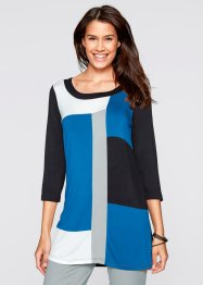 Shirt-Tunika, 3/4-Arm, bpc bonprix collection, azurblau/schwarz