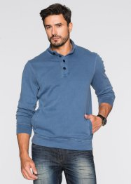 Troyersweatshirt im Regular Fit, bpc bonprix collection, jeansblau