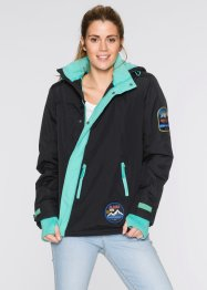 Funktions-Outdoorjacke, bpc bonprix collection, schwarz