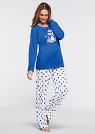 Pyjama, bpc bonprix collection, blau gepunktet