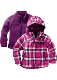 3-in-1 Funktionsjacke, bpc bonprix collection, fuchsia kariert