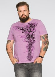 Slim Fit T-Shirt, RAINBOW, mauve